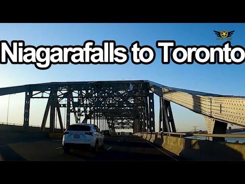 DRIVING FROM NIAGARA FALLS TO TORONTO ONTARIO CANADA 2020