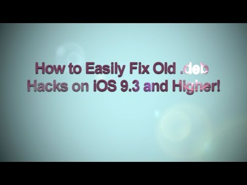 How to Easily Fix Old.deb Hacks(ERROR-256) on iOS 9.3 and Higher!