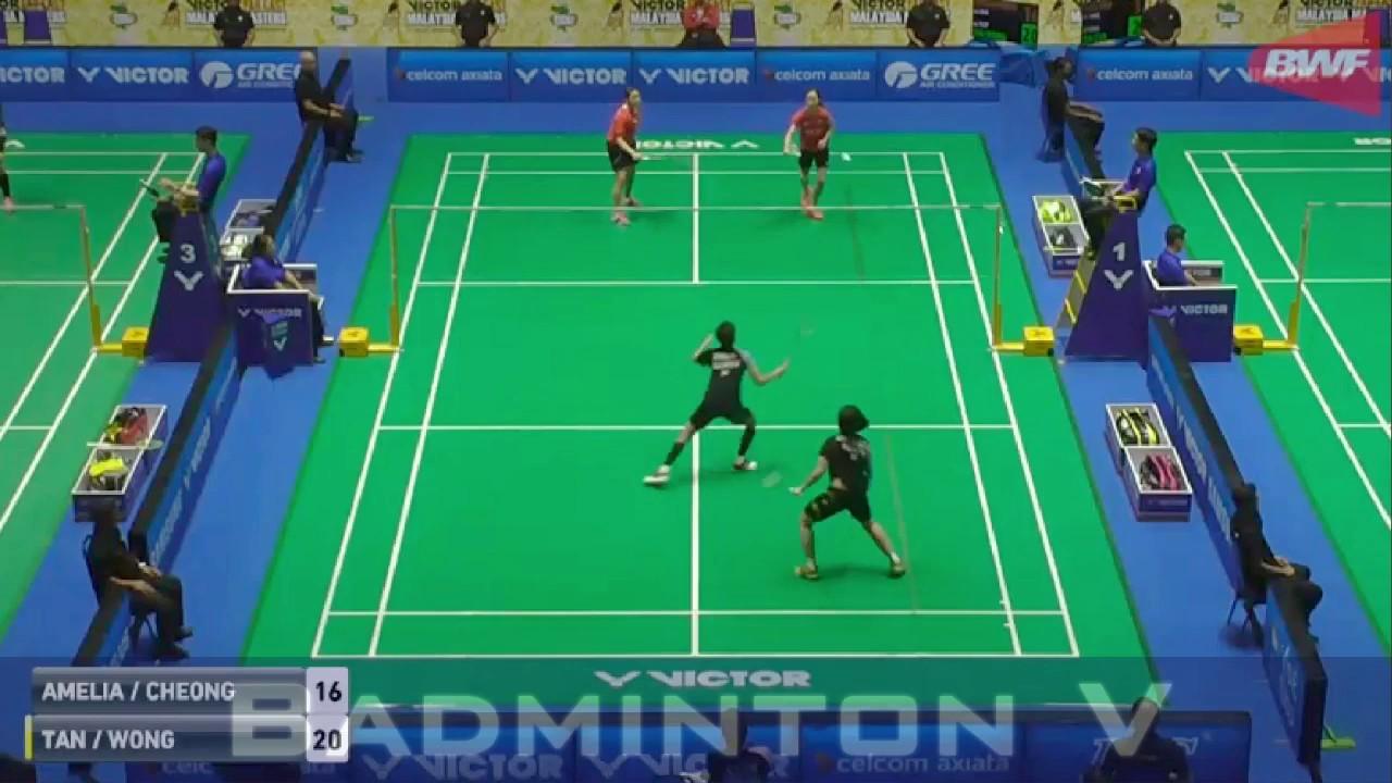 Badminton 2017 MalaysiaMaster TAN Wei Han WONG Jia Ying Crystal vs