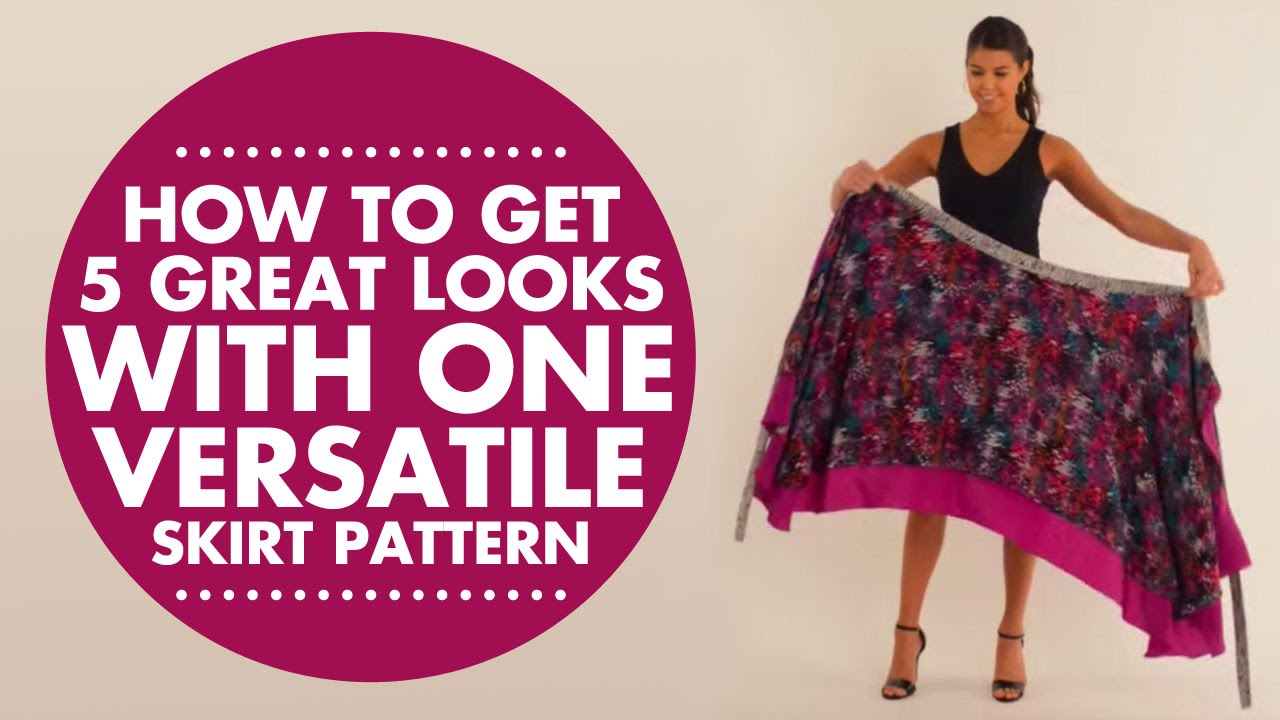 e32fdb4eb09a Wrap, Twist & Tie: How to Get 5 Great Looks with One Versatile Skirt  Pattern - YouTube