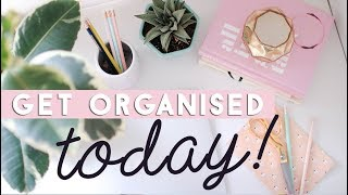 Organize your Life in 10 Steps (in Under a Day) | Easy and Fast Organisation Ideas
