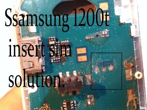 Samsung 1200t sim problem ||Samsung 1200t sim jumper