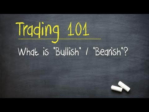 "Trading 101: What is ""Bullish"" / ""Bearish""?"