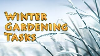 Winter Gardening Tasks