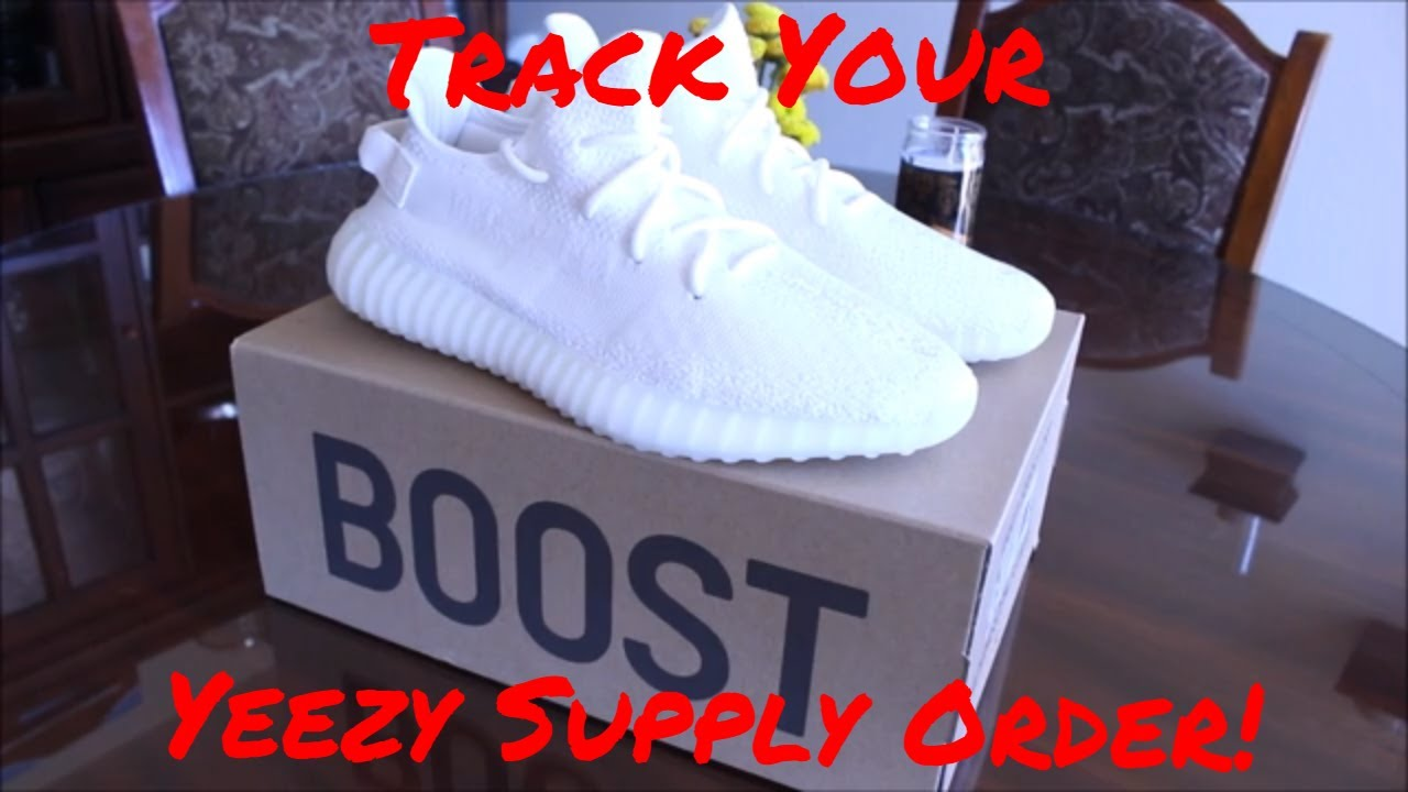 TO TRACK YOUR ORDER FROM YEEZY SUPPLY