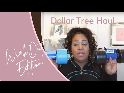 Dollar Tree Haul January  Workout Edition