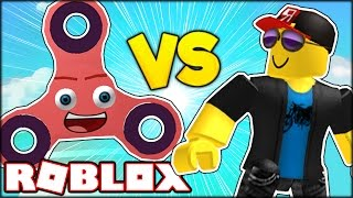 THIS GIGANTIC FIDGET SPINNER TRIED TO GIVE ME VIEWS IN ROBLOX | Roblox Fidget Spinner Roleplay
