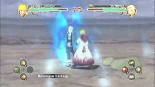 Naruto Storm 2: Naruto Hokage Custom (positive_emotion, Me) Vs Tsunade (YNTHONA) Rematch