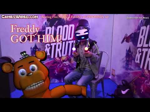 Beating Five Nights at Freddy's Terrifying VR Game at Insomnia Games Festival 64 (2019)