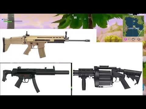 Fortnite Guns In Real Life Fortnite Battle Royale Weapons In Real