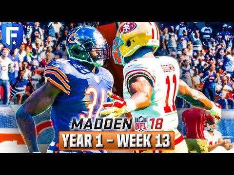 Madden 18 Bears Franchise Year 1 - Week 13 vs 49ers   Ep.13