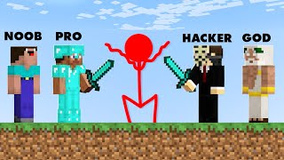 Minecraft NOOB vs. PRO vs. HACKER vs GOD : STICKMAN FIGHT CHALLENGE in Minecraft! (Animation)