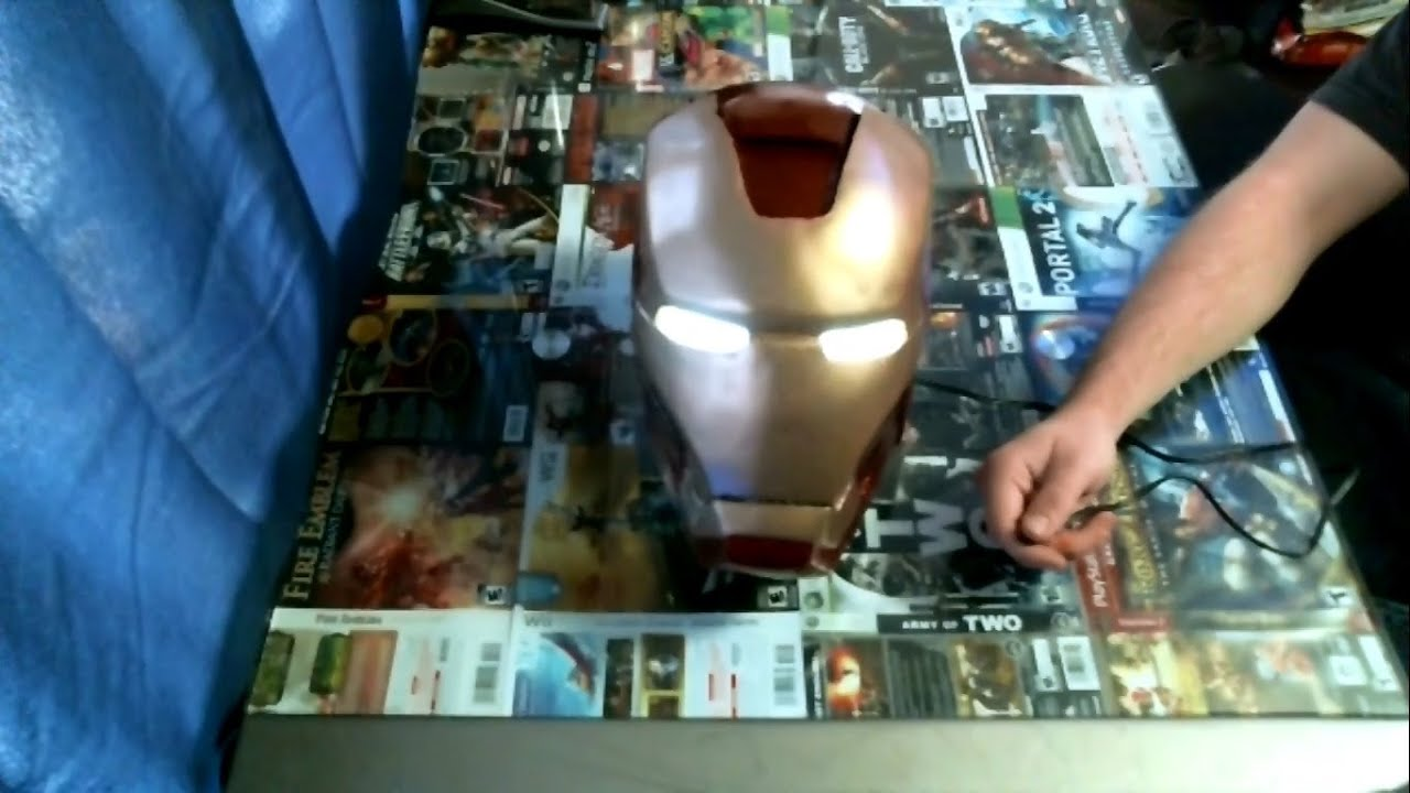 Iron Man Helmet - Motorized, Light-up Eyes, and Voice Changer (Old Version)