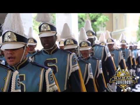 Southern University Human Jukebox Marching Into Sanford Stadium 2015