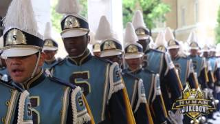 Southern University Human Jukebox Marching Into Sanford Stadium 2015