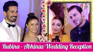 Navina Bole With Husband Karan Jeet At Rubina- Abhinav Wedding Reception