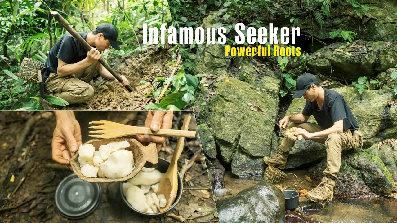 Bushcraft Survival [4K] | Episode 57 Infamous Seeker: Powerful Roots | Solo Bushcraft