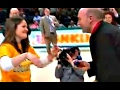 Girl At Siena Game Hits Halfcourt Shot During Halftime Contest then Immediately Gets Proposed To By