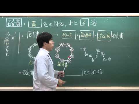 化学無機化学⑧1of7~硫黄単体の性質~