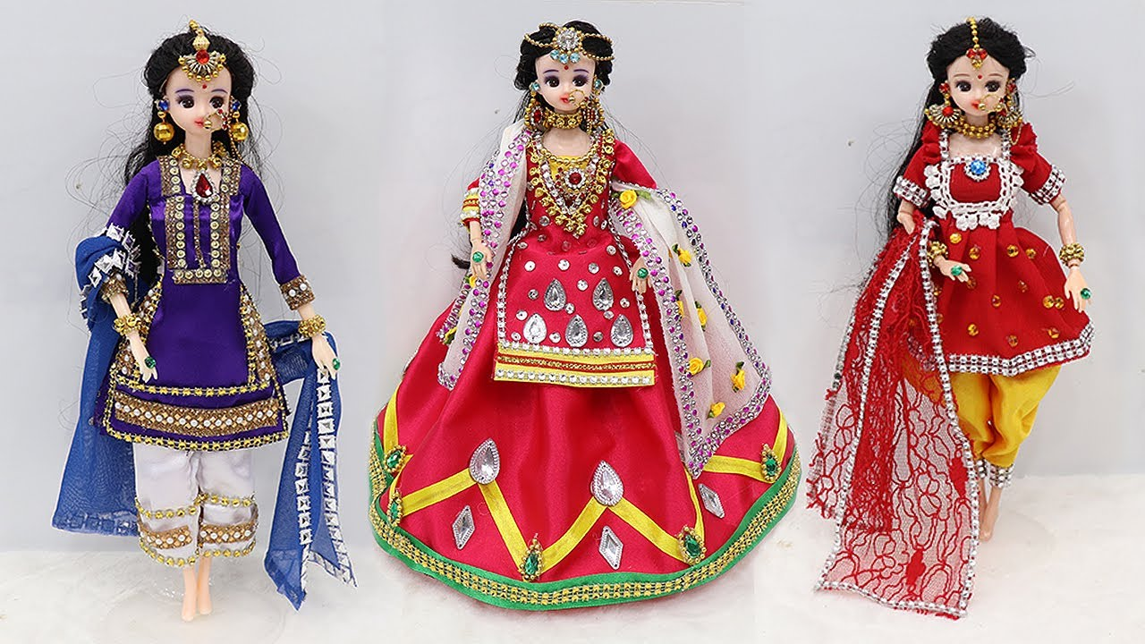 3 Doll decoration ideas | Doll decoration with clothes | 2