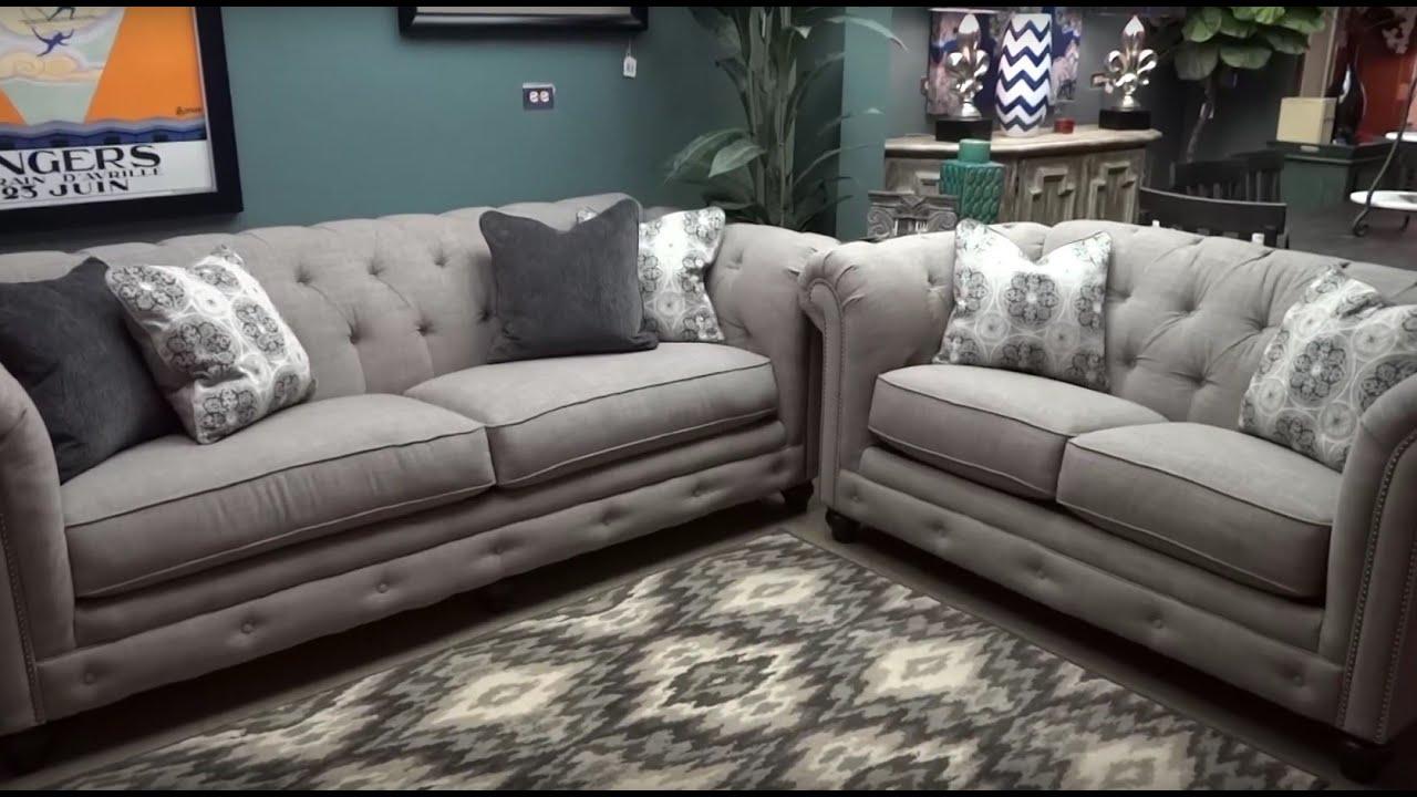 Ashley Furniture Azlyn Sepia Tufted Sofa & Loveseat 994 ...