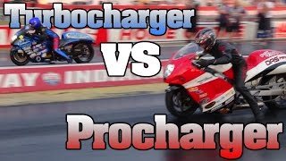 Turbo vs Supercharger Pro Street Hayabusa epic final battle, fastest bikes on Earth!