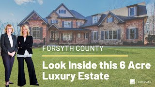 Look Inside this Outstanding 6 Acre Luxury Estate in Forsyth County, Georgia