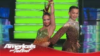 D'Angelo & Amanda - Kids Perform Super Salsa Dance - America's Got Talent 2013