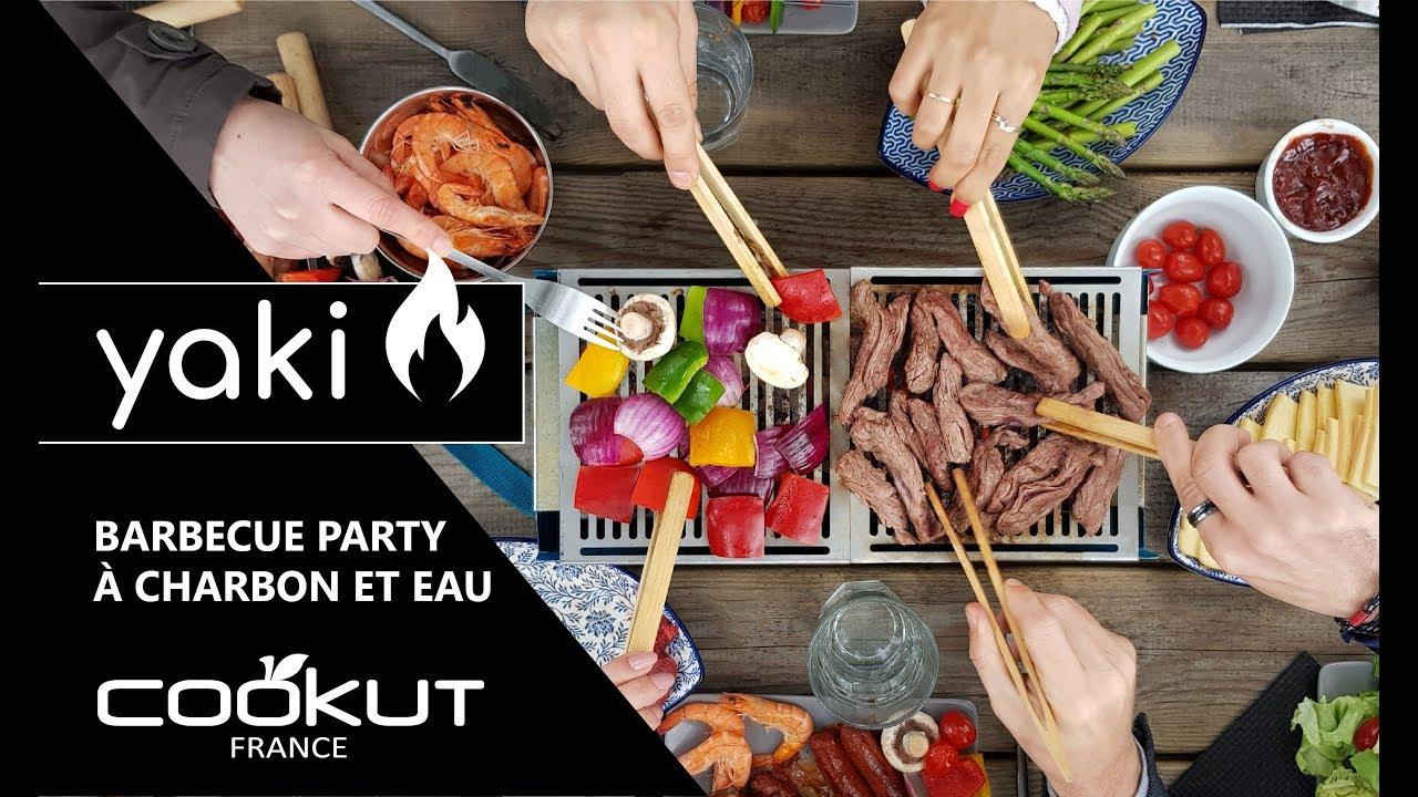 Préparer Un Barbecue Pour 20 Personnes yaki | le barbecue de table noir à charbon et eau - cookut