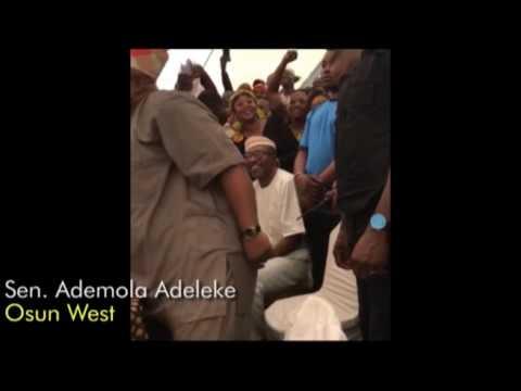 VICTORY PARTY: Elected Osun PDP senator Ademola Adeleke dance self out