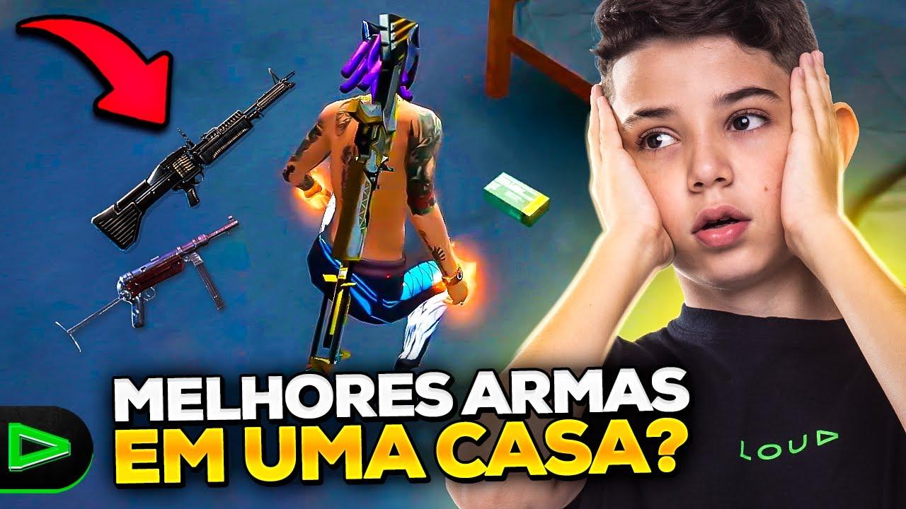 JOGUEI COM AS PRIMEIRAS ARMAS QUE ACHEI NO CHÃO NA RANQUEADA!