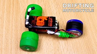 How to Make Mini Drifting Motorcycle | How to Make Motorcycle Bare Handed | Crazy Experiment