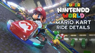 Mario Kart Ride Details for Super Nintendo World at Universal Parks - Track Layout & Scenes