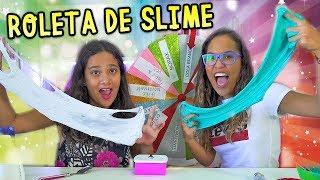 ROLETA MISTERIOSA DE SLIME 2! (Mystery Wheel Of Slime Challenge) - JULIANA BALTAR