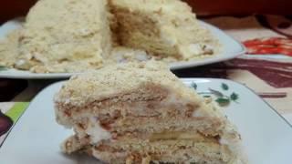 Торт без выпечки. Быстрый торт к чаю