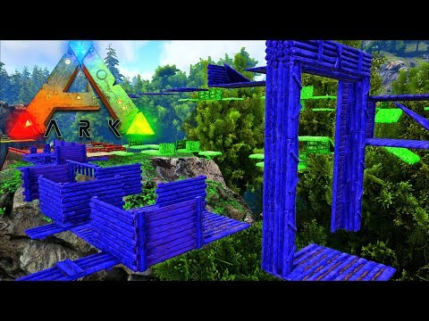 MAKING PARKOUR COURSES! - FREE RUN RACE COURSE! - Ark Vanilla! S4 Ep58!
