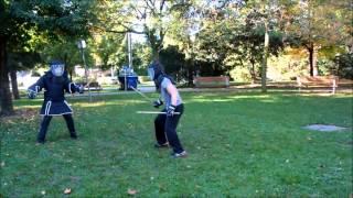 (toronto Urban Self-defense) Double Stick Sparring