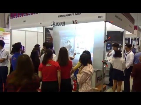 Vietnam Ho-chi-minh Korean Product Exhibition 2015, Rear projection screen using Spaint