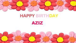 Aziz   Birthday Postcards & Postales - Happy Birthday
