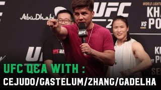 Henry Cejudo leads the cringiest Q&A ever (ft. Kelvin Gastelum, Weili Zhang & Claudia Gadelha)