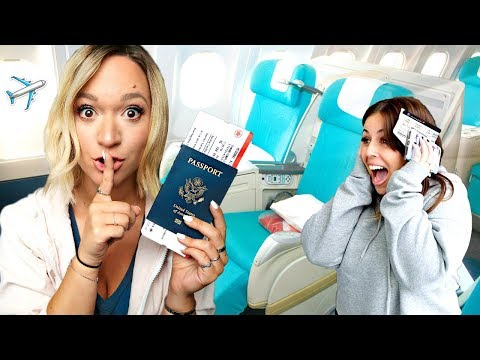 SURPRISING FRIENDS W/ FREE FIRST CLASS GREECE TICKETS!!