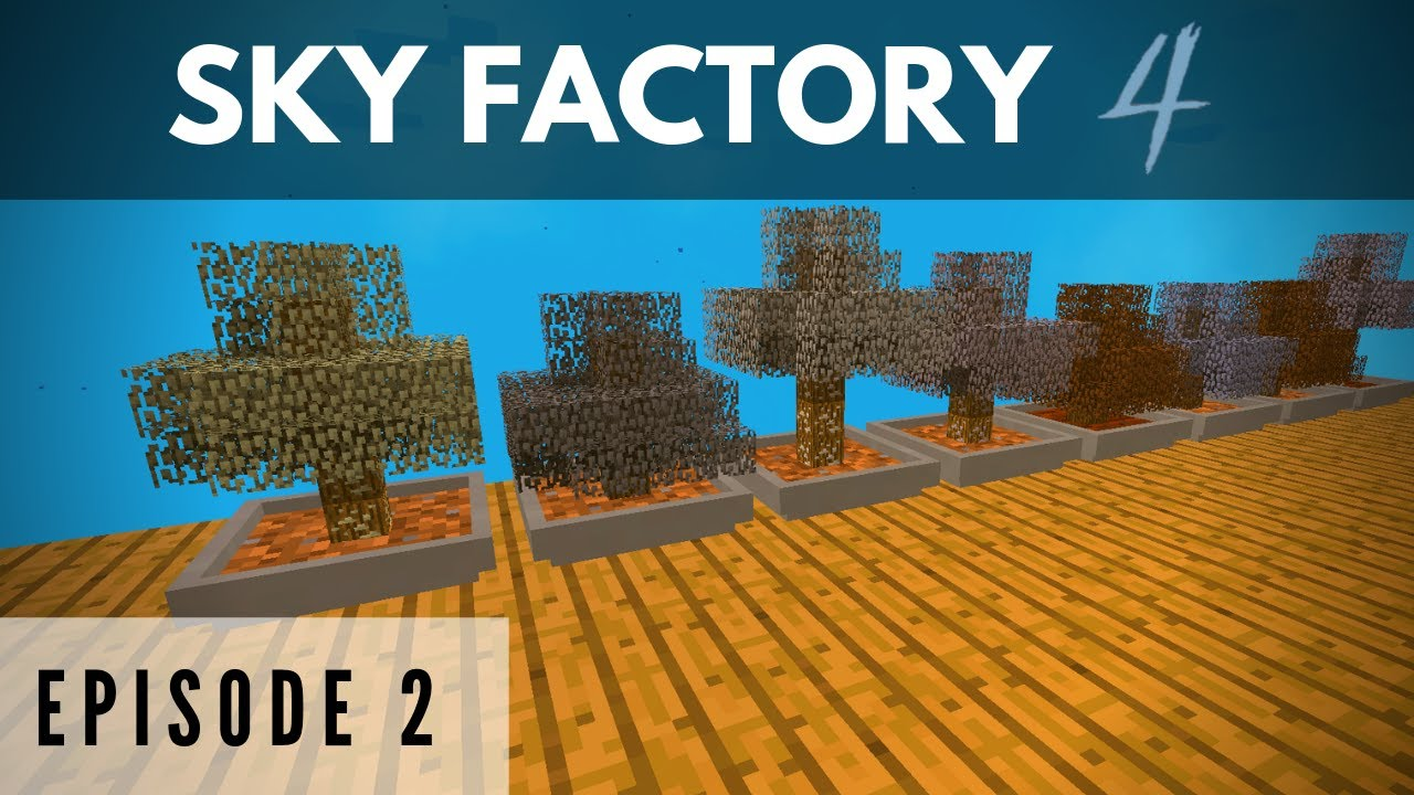 Sky Factory 4 Episode 2 Making Bonsai Pots Minecraft Youtube