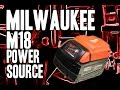 Milwaukee M18 Power Source (Cell Phone Charger!!) 49-24-2371