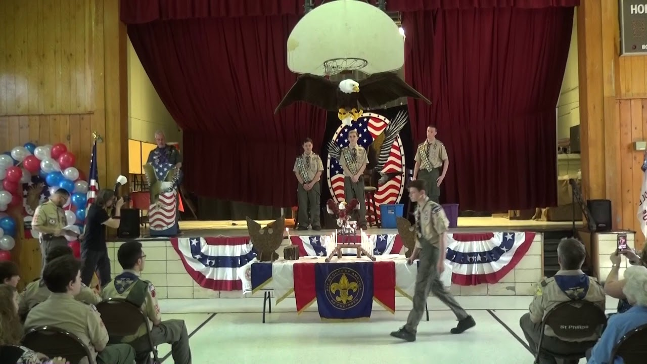 Eagle Scout At A Court Of Honor Ceremony 2018 Youtube