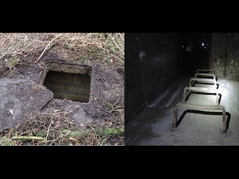 Secret forest door opened ,, and underground bunker.