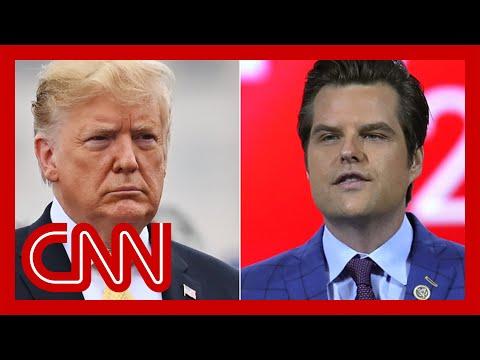 Donald Trump breaks his silence on Matt Gaetz