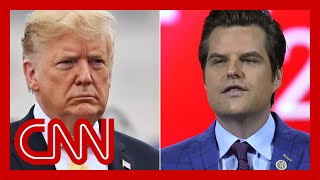 Donald Trump breaks his silence on Matt Gaetz