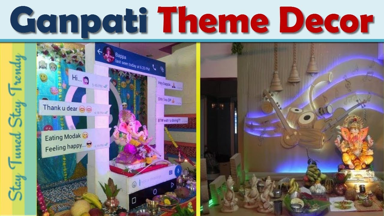 Ganpati Theme Decoration Ideas For Home At Simple Stay Tuned Trendy