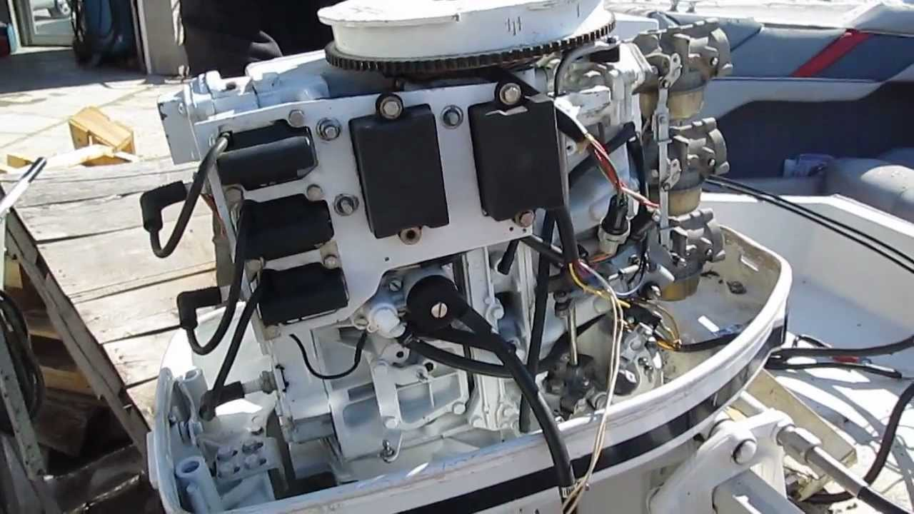 Kill Switch Wiring Diagram Yamaha Kodiak 450 85 Hp Force 1986 Power Head For Sale Perfect Compression 856x6l Running - Youtube