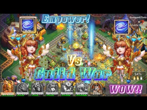 Lv8 Empower Athene Vs Athene Guild War WOW! Castle Clash